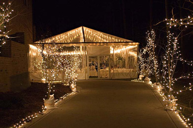 outdoor tent wedding reception lights colorado5