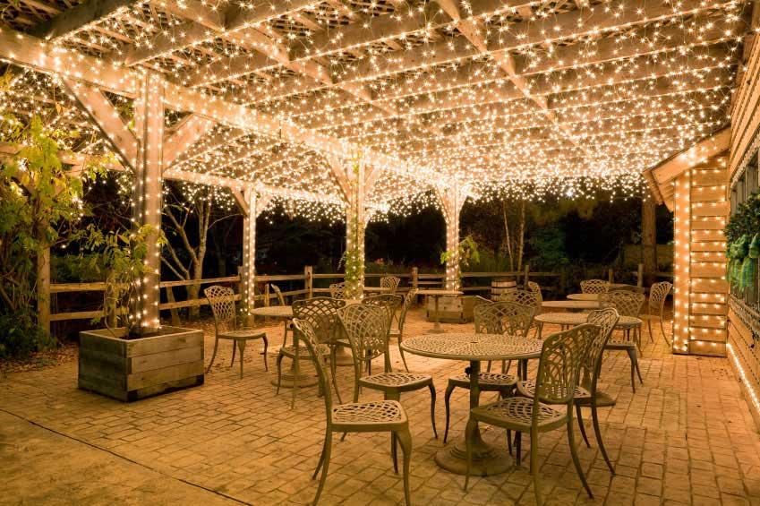 Christmas lights as event decor cinderella ending weddings events wedding lights ceiling lights large 1 aloadofball Images